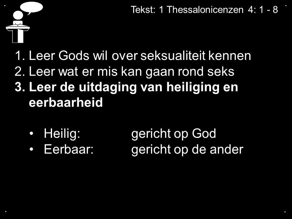 1. Leer Gods wil over seksualiteit kennen