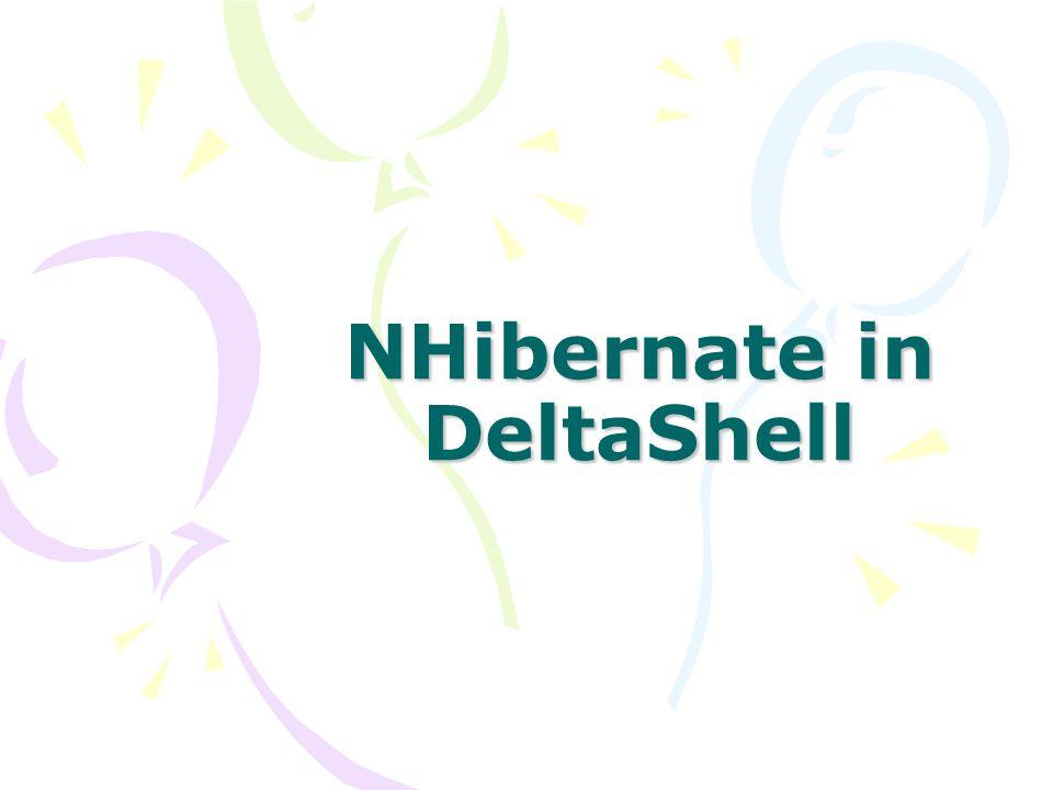 NHibernate in DeltaShell