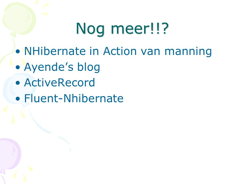 Nog meer!! NHibernate in Action van manning Ayende's blog