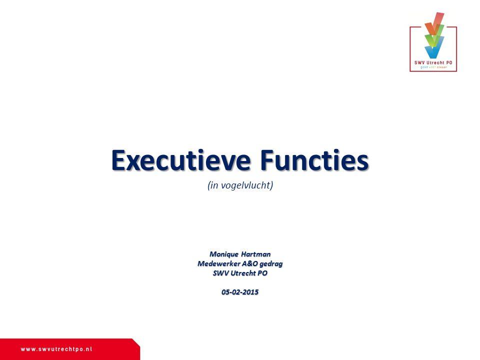 Executieve Functies (in vogelvlucht) Monique Hartman