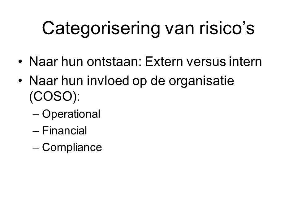 Categorisering van risico's