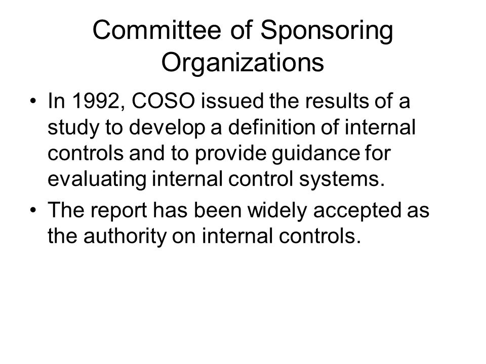 Committee of Sponsoring Organizations
