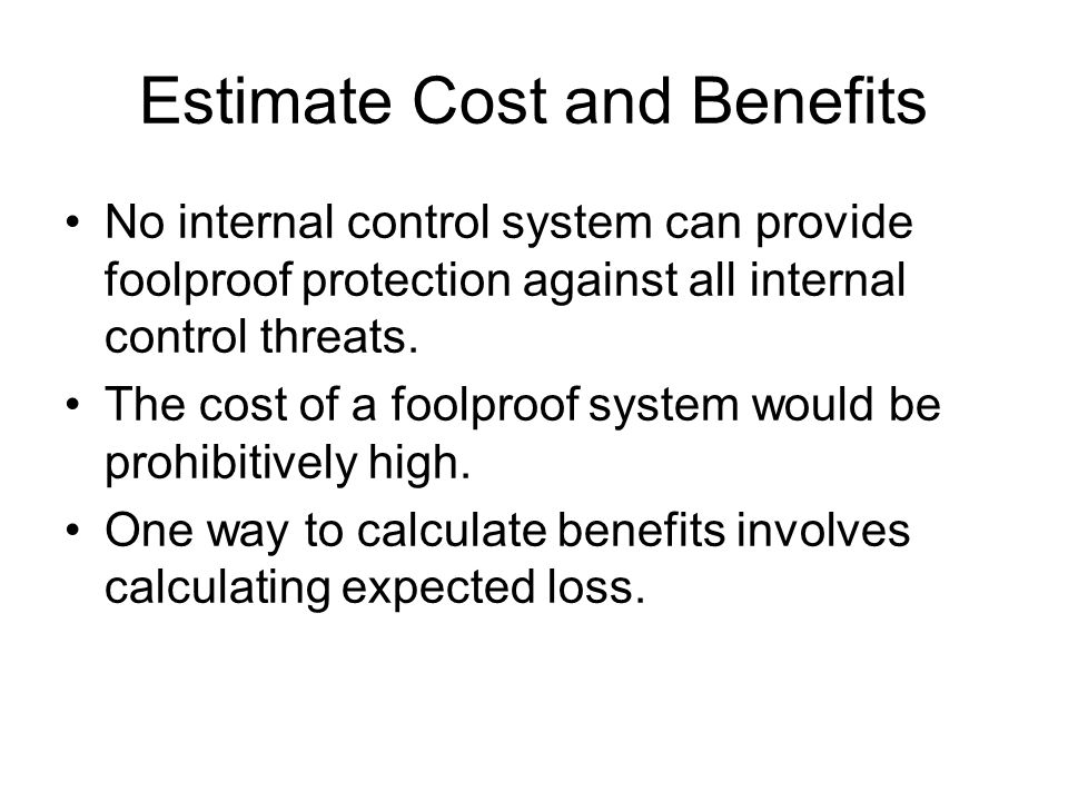 Estimate Cost and Benefits