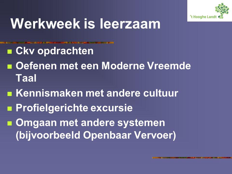 Werkweek is leerzaam Ckv opdrachten