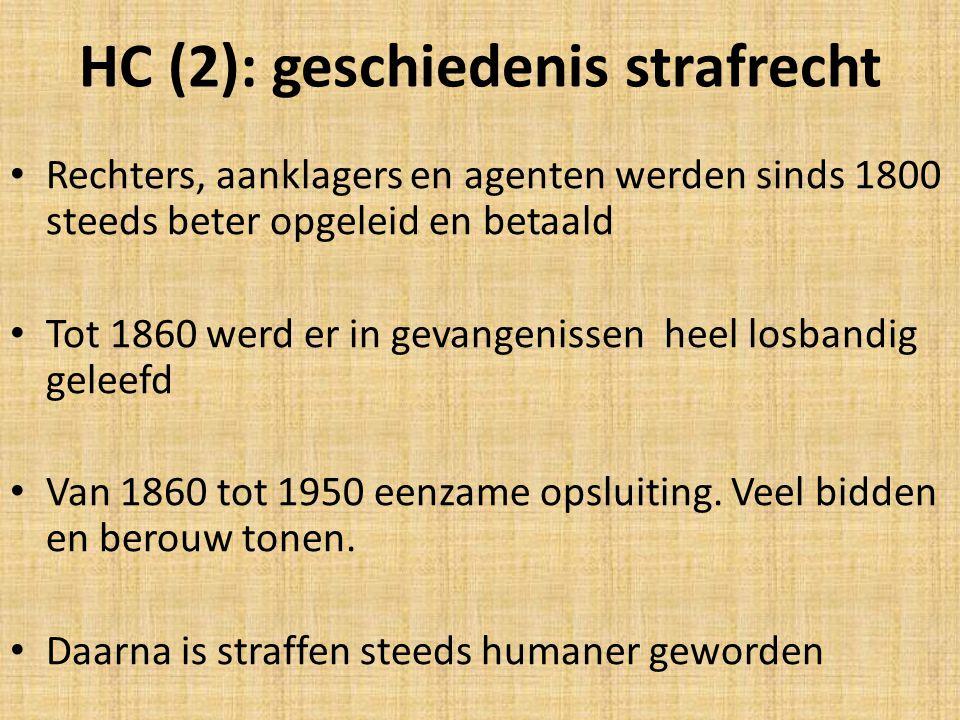 HC (2): geschiedenis strafrecht