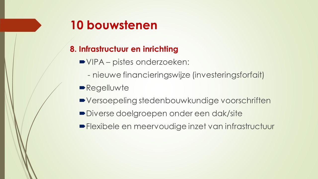 10 bouwstenen 8. Infrastructuur en inrichting