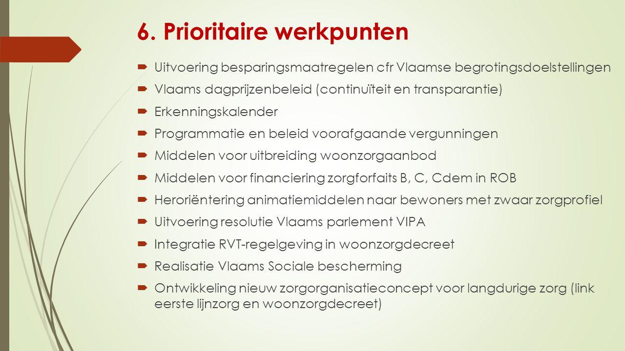 6. Prioritaire werkpunten