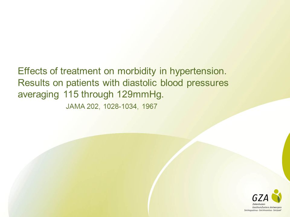 Effects of treatment on morbidity in hypertension