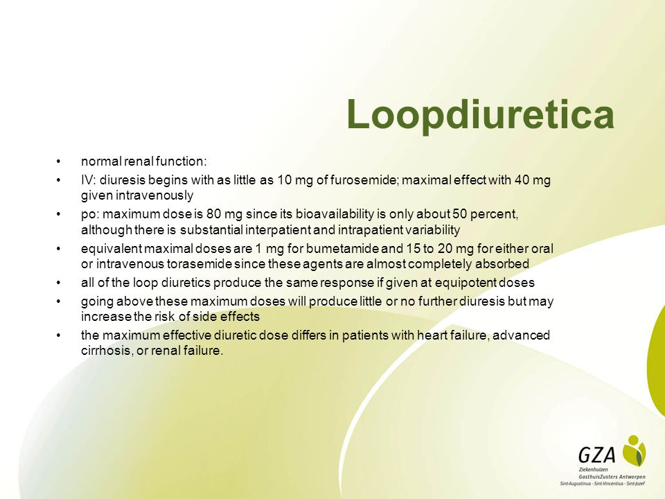 Loopdiuretica normal renal function: