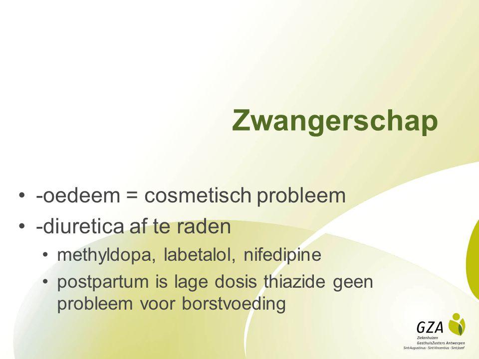 Zwangerschap -oedeem = cosmetisch probleem -diuretica af te raden