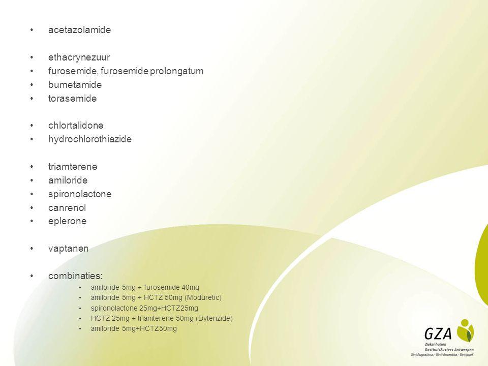 furosemide, furosemide prolongatum bumetamide torasemide chlortalidone