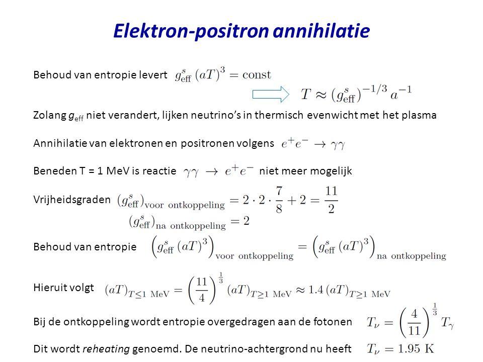 Elektron-positron annihilatie