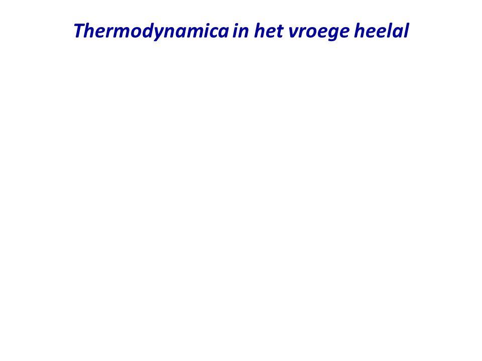 Thermodynamica in het vroege heelal