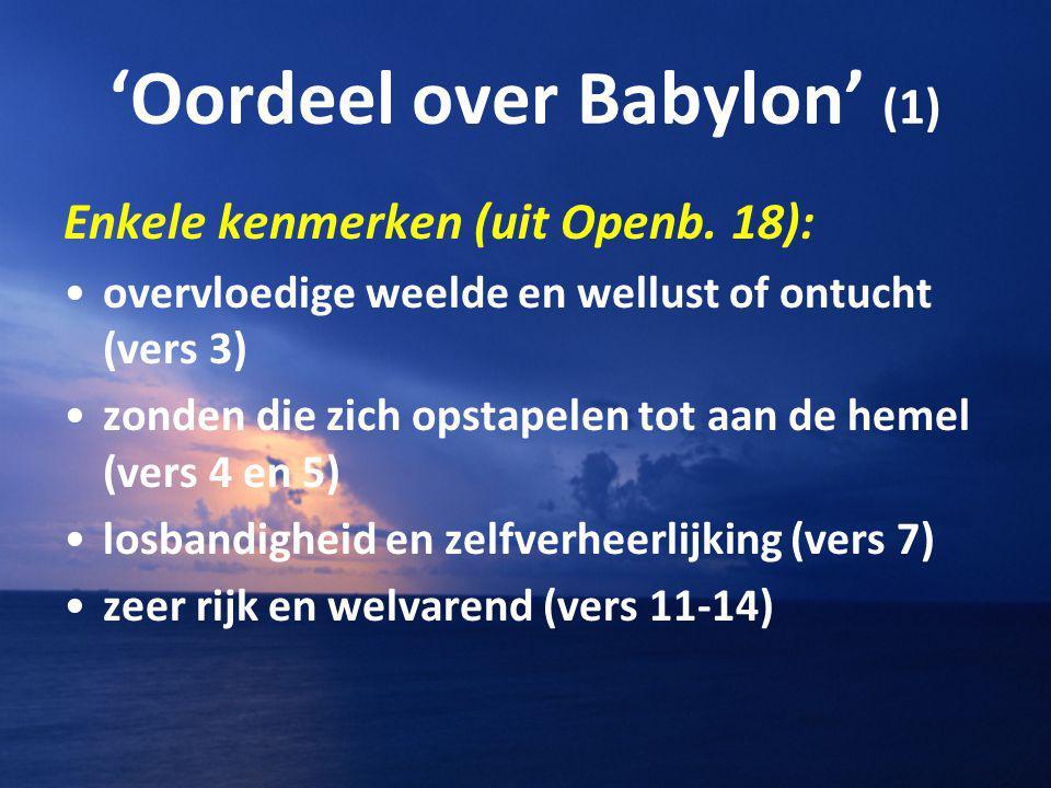'Oordeel over Babylon' (1)