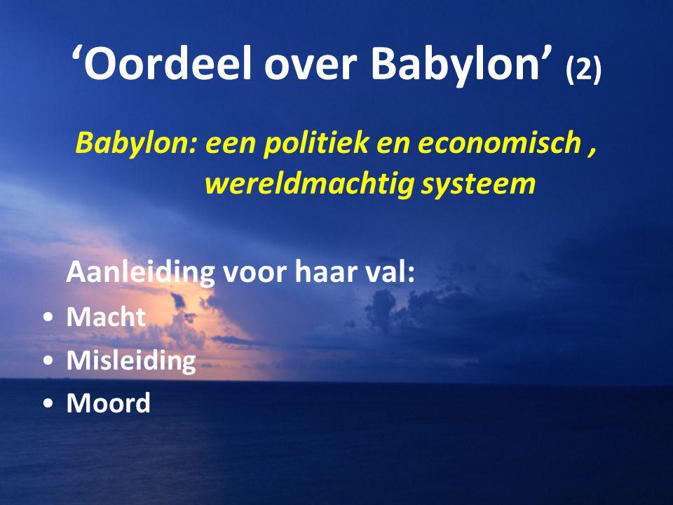 'Oordeel over Babylon' (2)