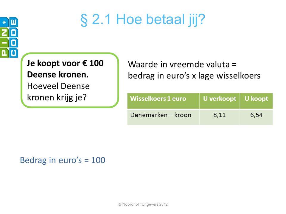 § 2.1 Hoe betaal jij Je koopt voor € 100 Deense kronen.