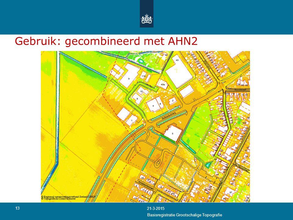 Gebruik: gecombineerd met AHN2