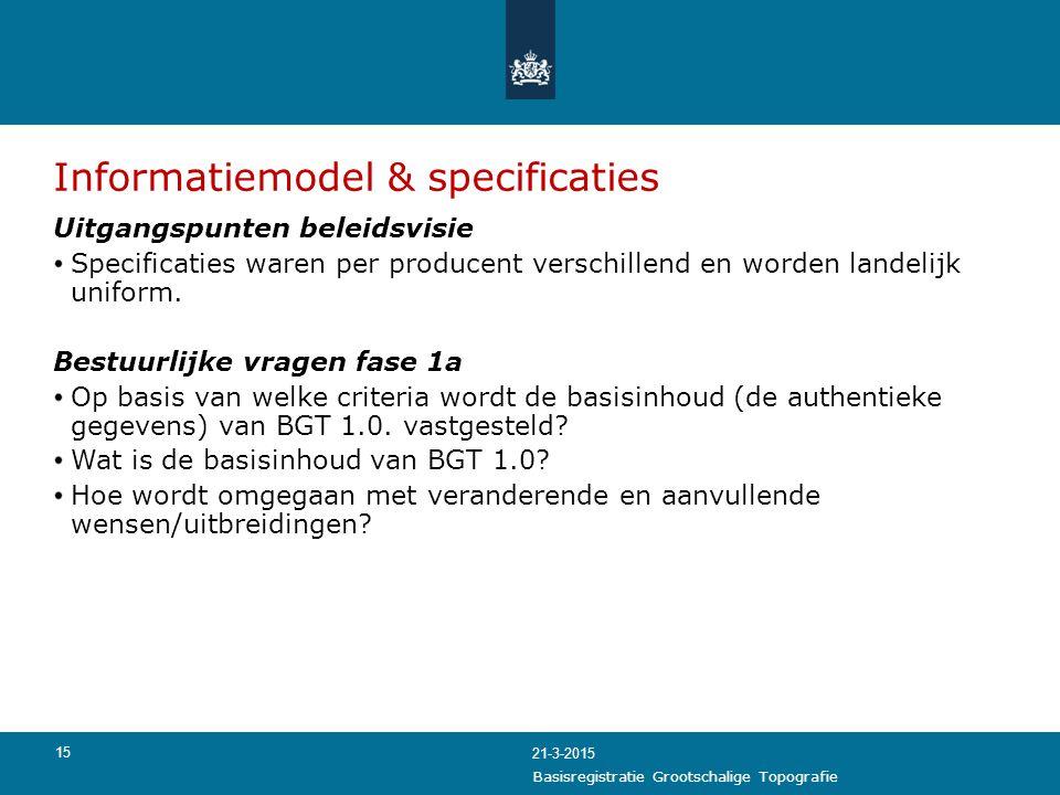 Informatiemodel & specificaties