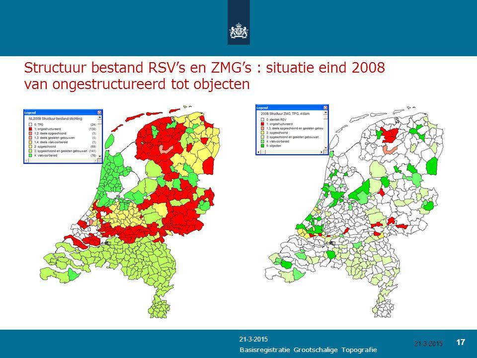 Structuur bestand RSV's en ZMG's : situatie eind 2008 van ongestructureerd tot objecten