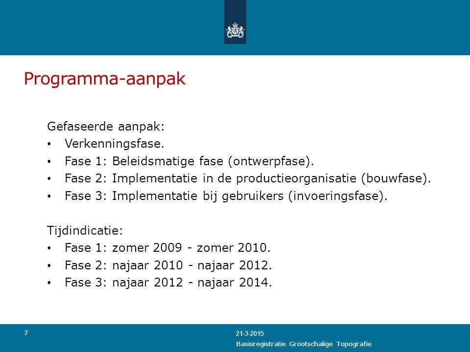 Programma-aanpak Gefaseerde aanpak: Verkenningsfase.