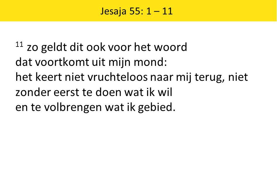 Jesaja 55: 1 – 11