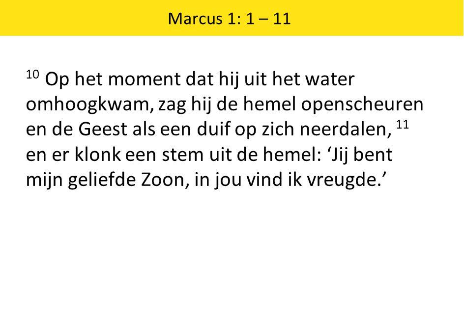 Marcus 1: 1 – 11