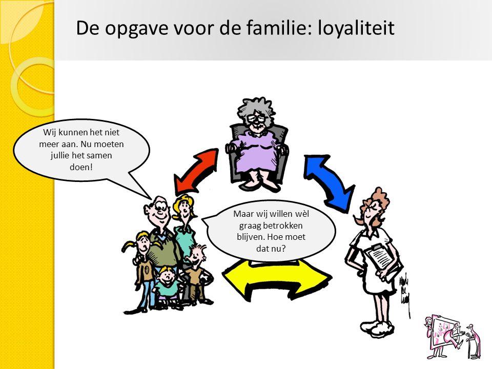 De opgave voor de familie: loyaliteit