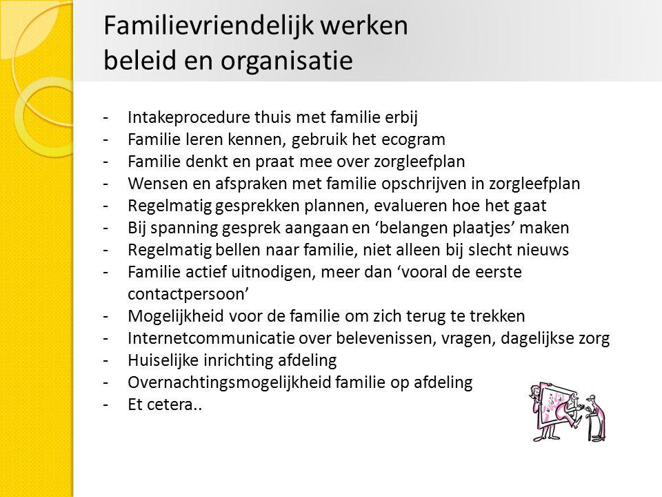 Familievriendelijk werken beleid en organisatie