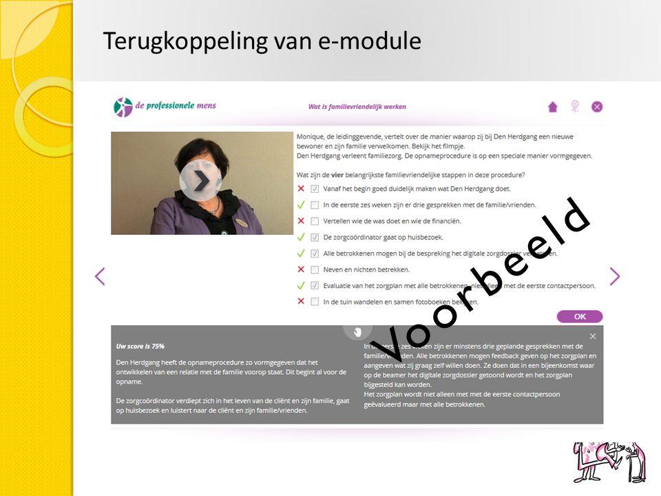 Terugkoppeling van e-module
