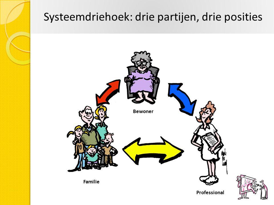 Systeemdriehoek: drie partijen, drie posities