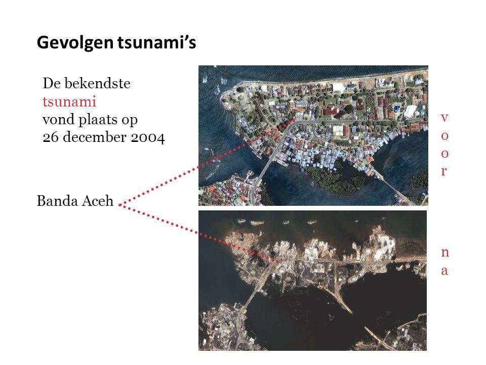Gevolgen tsunami's De bekendste tsunami vond plaats op