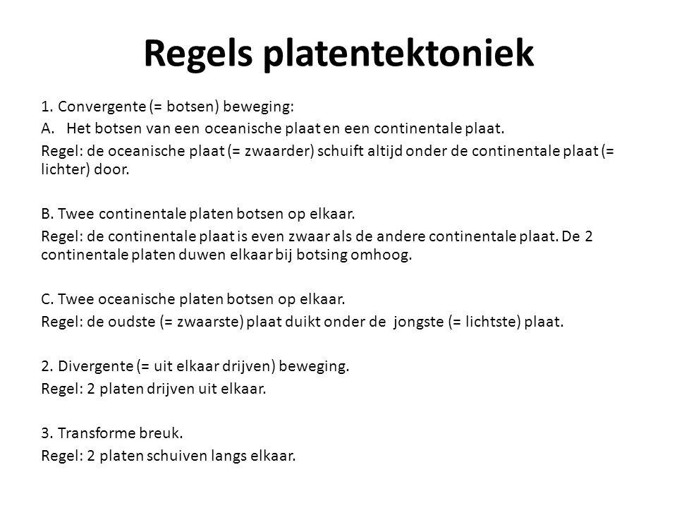 Regels platentektoniek