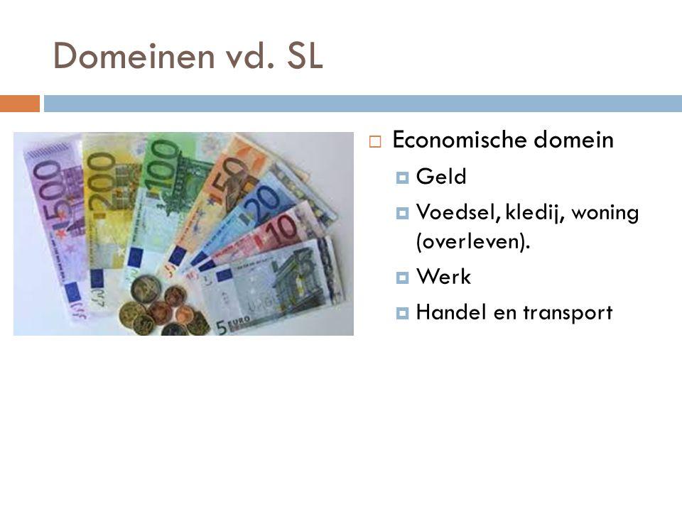 Domeinen vd. SL Economische domein Geld