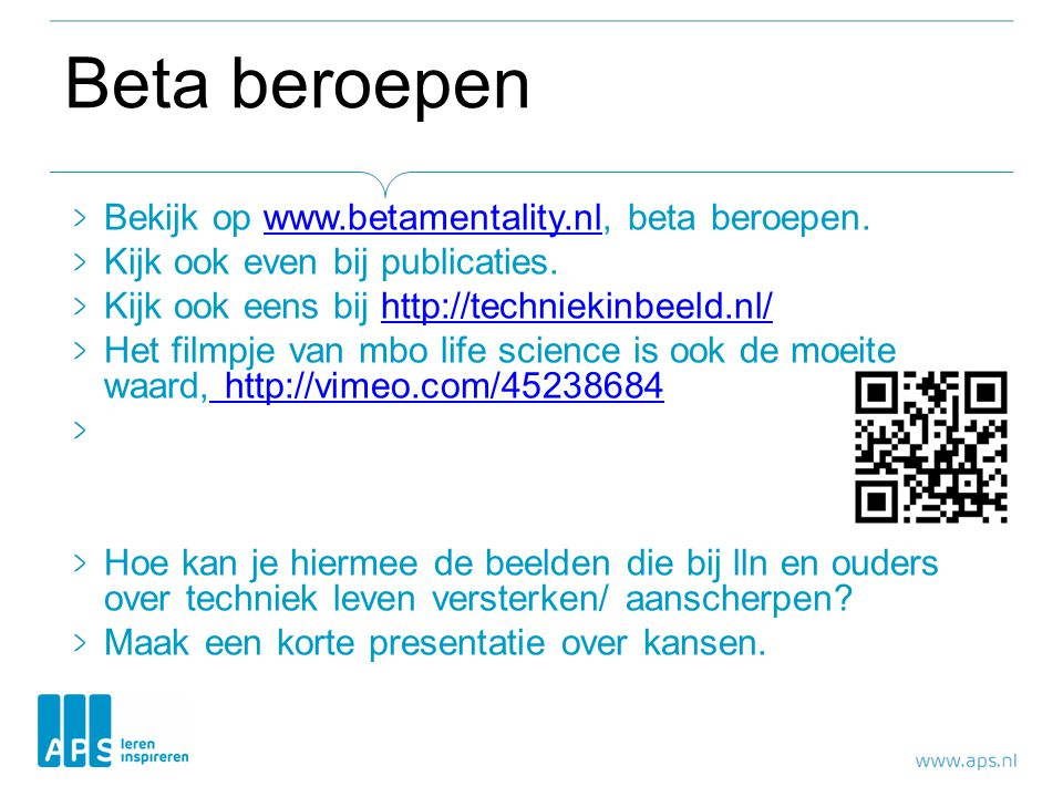 Beta beroepen Bekijk op www.betamentality.nl, beta beroepen.