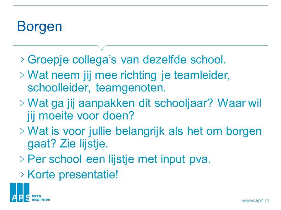 Borgen Groepje collega's van dezelfde school.