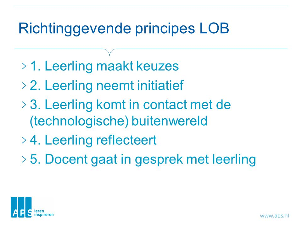 Richtinggevende principes LOB