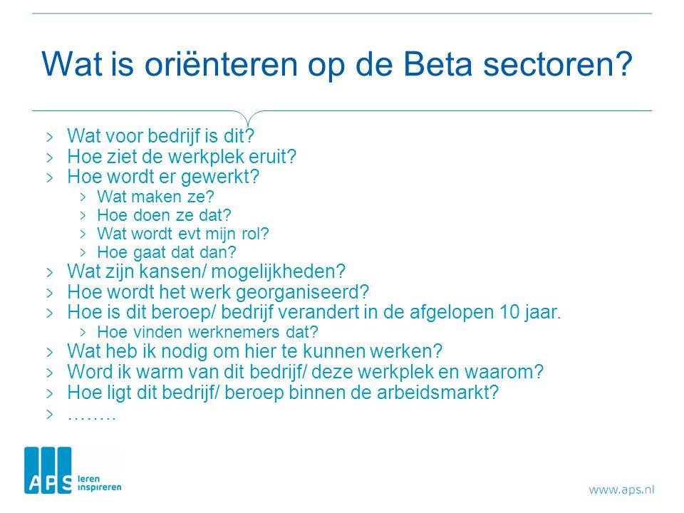 Wat is oriënteren op de Beta sectoren