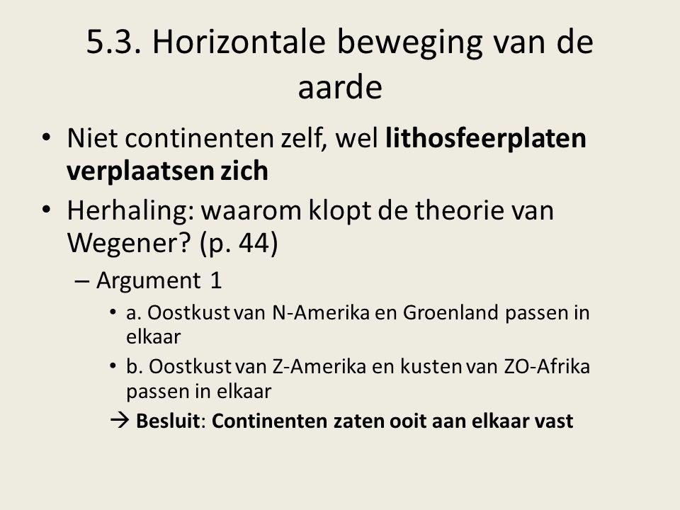 5.3. Horizontale beweging van de aarde