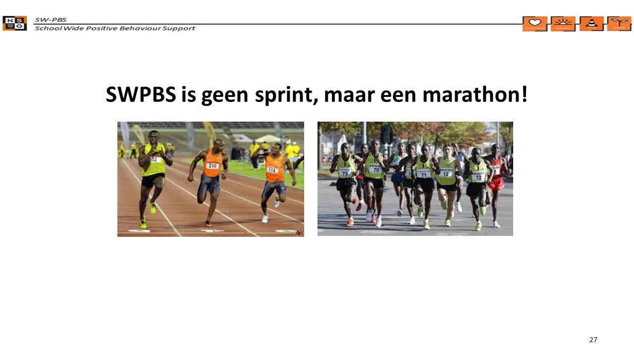 SWPBS is geen sprint, maar een marathon!