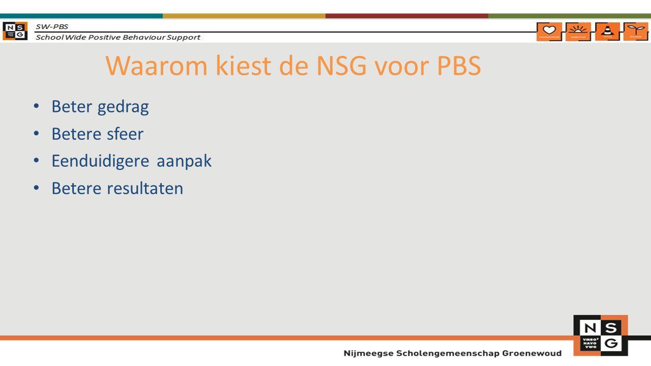 Waarom kiest de NSG voor PBS