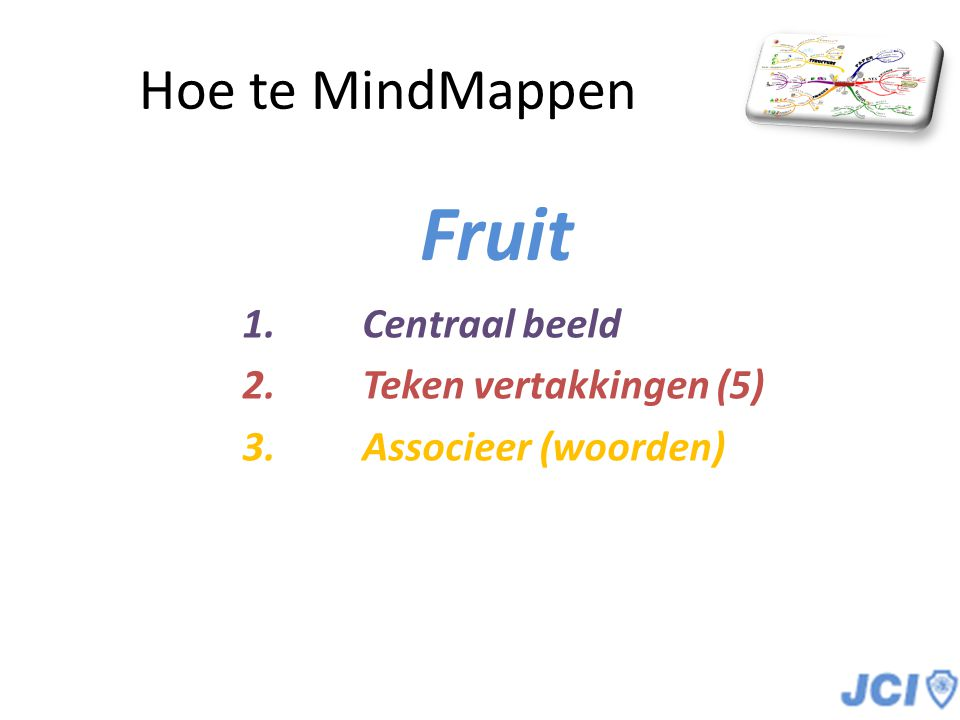 Fruit Hoe te MindMappen Centraal beeld Teken vertakkingen (5)