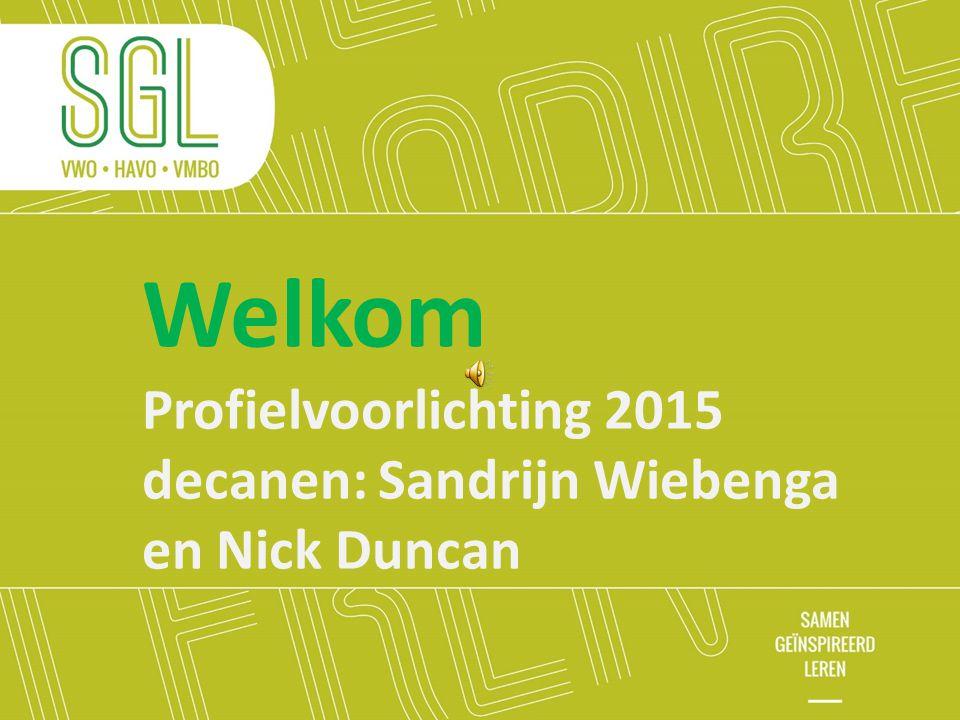 Welkom Profielvoorlichting 2015