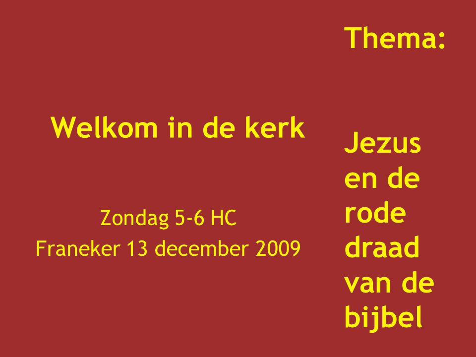 Zondag 5-6 HC Franeker 13 december 2009