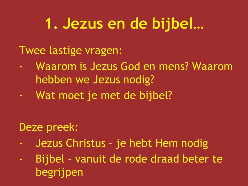 1. Jezus en de bijbel… Twee lastige vragen: