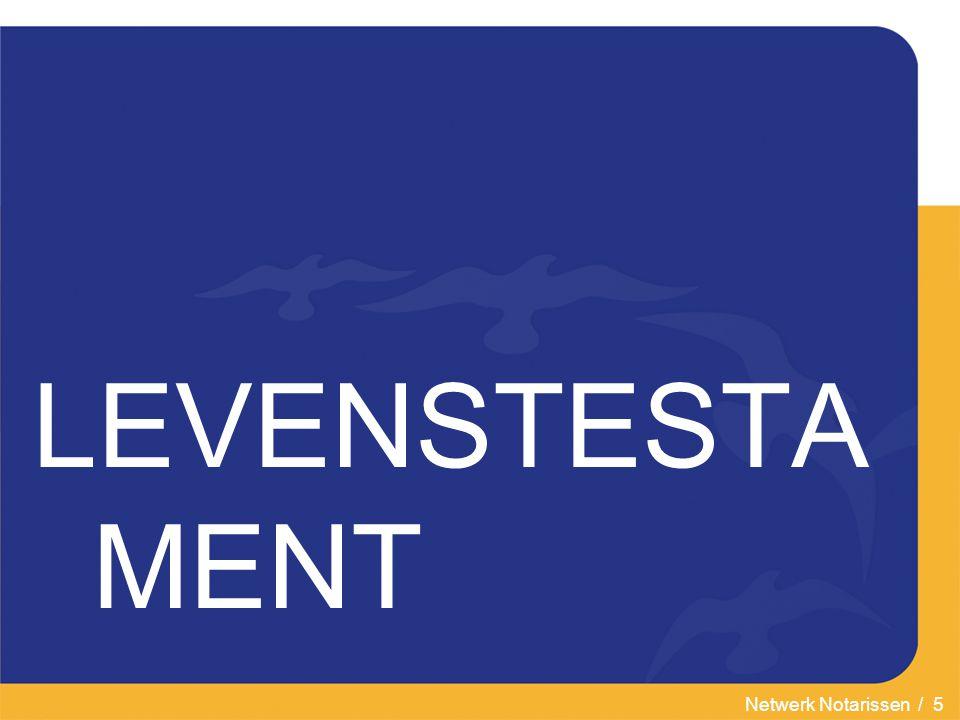 LEVENSTESTAMENT