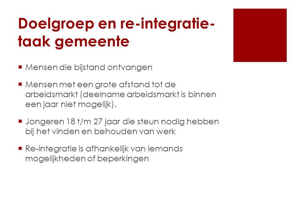 Doelgroep en re-integratie- taak gemeente