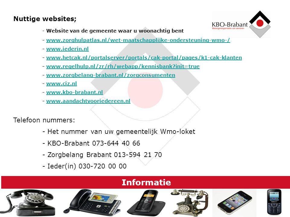 Informatie Nuttige websites;