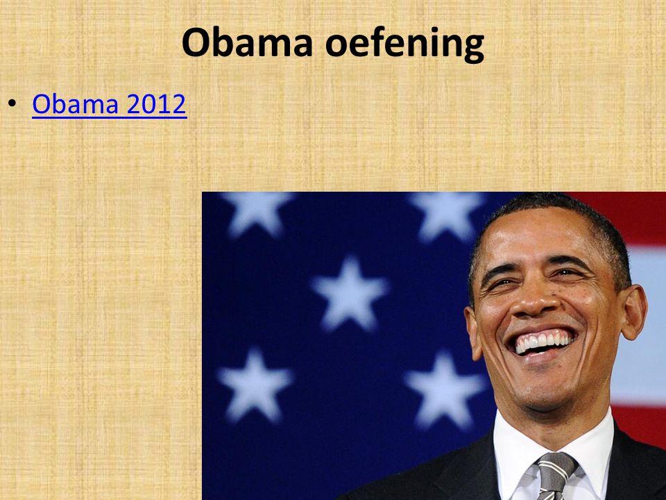 Obama oefening Obama 2012