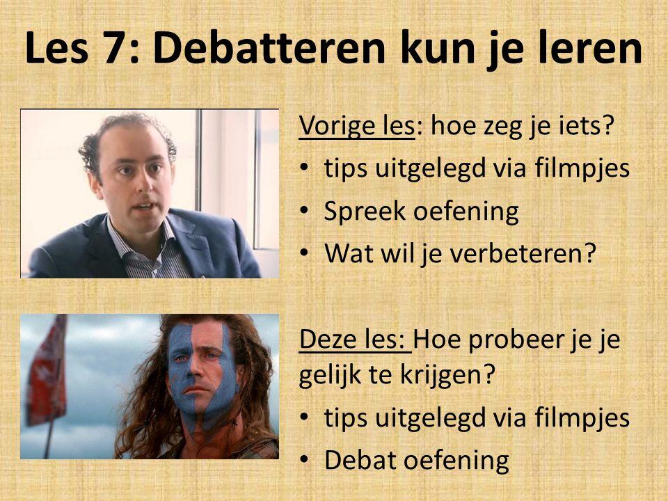 Les 7: Debatteren kun je leren