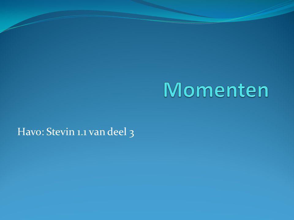 Momenten Havo: Stevin 1.1 van deel 3